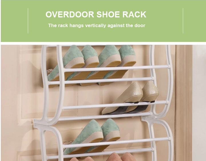 FH-SR004812 36 pairs 12 tier space saving over door shoe rack