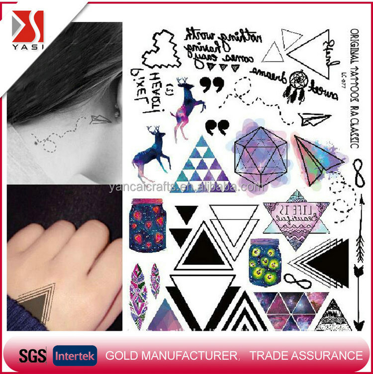 Professional supply temporary,non-toxic tattoo sticker designs from factory
