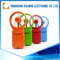 Plastic air battery power portable battery operated mini electric fan