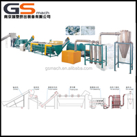 Easy to clean plastic washing recycling line