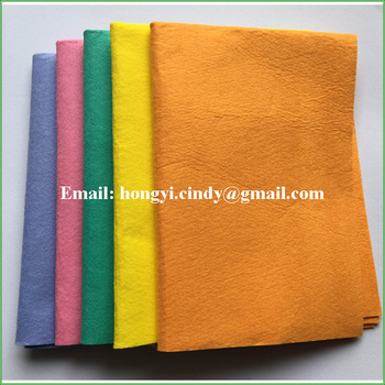 Germany needle punched nonwoven orange super absorbent cleaning towels