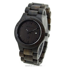Latest arrival western Bewell black wood wrist watch in stock