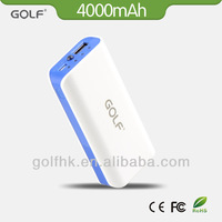 Dual usb 4000 mAh aluminum portable power bank for smart phone mobile phone