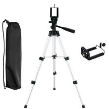 <strong>Phone</strong> Camera Tripod, Portable Adjustable Aluminum Lightweight Camera Stand with Smartphone Holder Mount