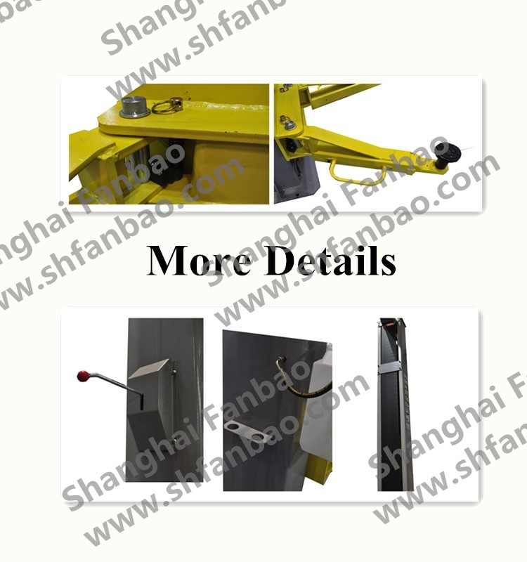 12000lbs 5T two post clear floor hydraulic car lift with CE certification Shanghai Fanbao QJY5.0-D5A