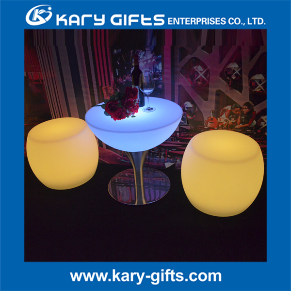 Unique Cheap RGB LED Light Plastic Commercial Used Bar Stool