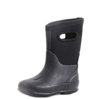 New Stylish Water-Proof Cheap Rubber Black Children Rain Boots