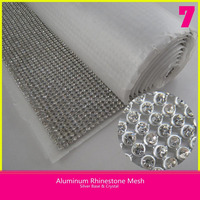 4mm White A Grade Rhinestone 41*150cm Decorative Hot Fix Crystal Net Trimming Sheet for Shoes