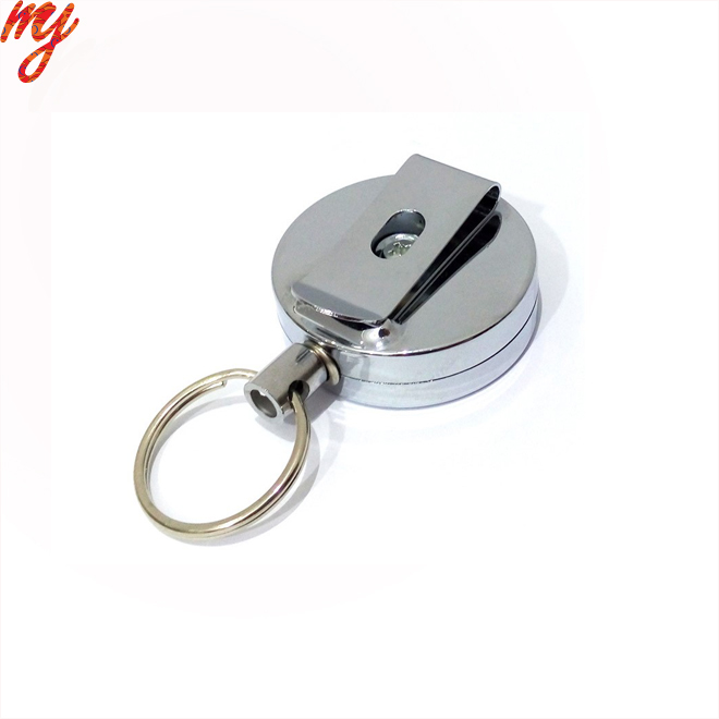 11.11 preferential price High quality retractable key ring high resilience rope chain anti lost keychains