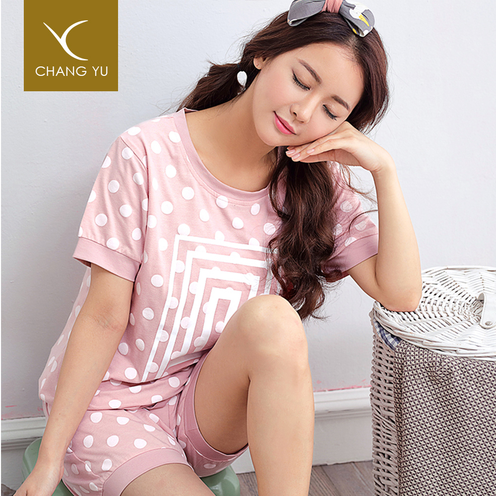 Guangzhou wholesale women pajamas sleepwear cotton, women's lovely plain cotton pajamas