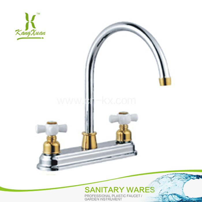 Chromed Plastic kitchen faucet sink