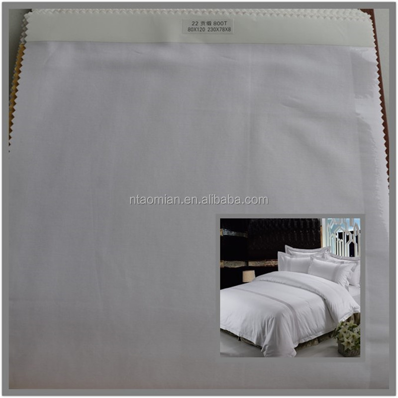high class bedsheet cotton sateen fabric 120s 600T / 700T / 800T / 1000T
