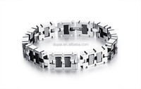 Magnet Stone Man Bracelets Vintage Stainless Steel Link Chain Men Jewelry Fashion 13MM Width Accessories