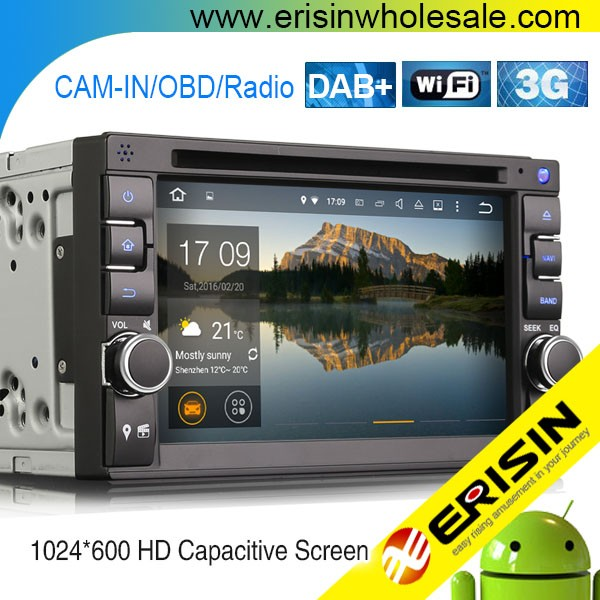 Erisin ES3646U 2 Din 7 inch Car Radio DVD CD Player GPS