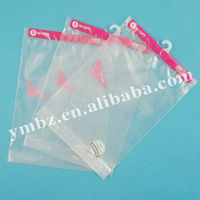 High quality transparent cloth bag with hanger