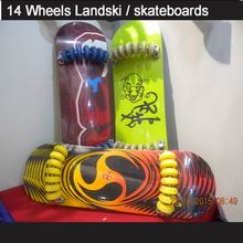 "factory wholesale Cheap 32x10"" Chinese 9 layers maple adult 14wheels skateboard/Landski/flow board/Flowlab"