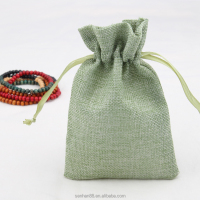 Pouches Jewelry Packaging & Display Type multi color drawstring linen jewelry bag