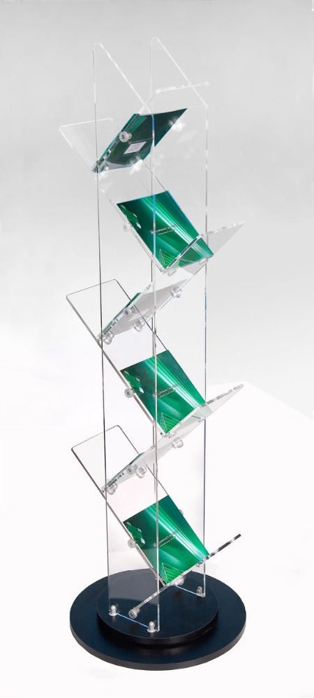 2017 Rotating bigger acrylic magazine display/book rack