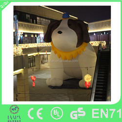 2015 customized advertisement inflatable dog for business activity