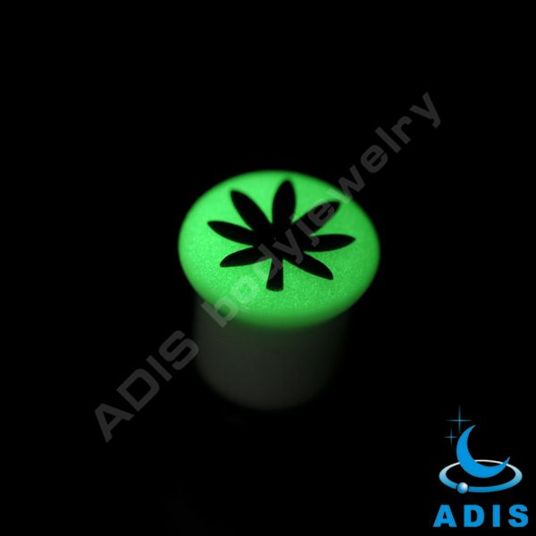 flesh ear plug glow in dark body piercing jewelry flesh tunnel