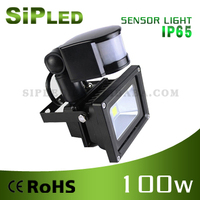 factory 100W flood light hot sale PIR motion sensor led flood light