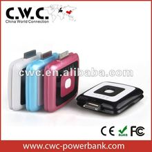 2700mah rechargeable external battery charger for smart phone