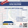 1GE+3FE+WIFI 1*1000Mbps +3*100Mbps 4 Ethernet Port EPON ONU with 300Mbps Wireless Supported VLAN Tag Mode