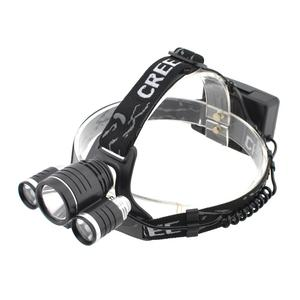 Heavy duty CREE T6*1 XPE*2 headlamp with 4x18650 battery bicycle lamp