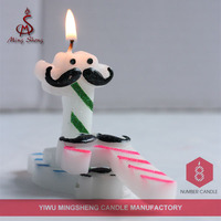Colorful paraffin wax funny number candle