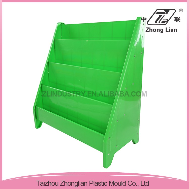 Professional manufacturer safe easy to move new pp kindergarten bookshelf