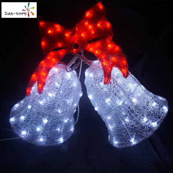 Popular led light costume high quality christmas music bell light nice led lights
