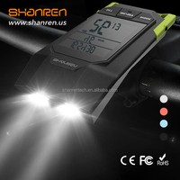 Shenren digital wireless USB cycling front light with multi function computer