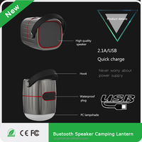8800mah Power bank LED lamp camping light, bluetooth speaker Led Battery Camping Lamp with USB charging