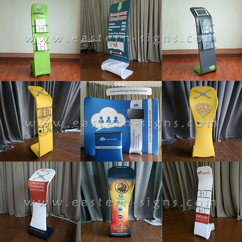 Creative Advertising Showing Floor Display Stand