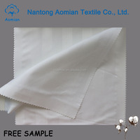 for sale 100% cotton satin stripe flat sheet fabric for star hotel