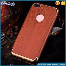 Customized design wood pattern case plastic moblie phone case for iphone 7 plus