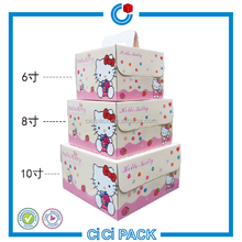Food grade paper packaging portable cake box including inner tray square cartoon cake box