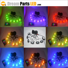 high quality 8pods 9w RGB led rock light with bluetooth APP remote control led deck light for atv utv truck jeep boat