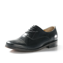 Military Officer men black Leather Shoes