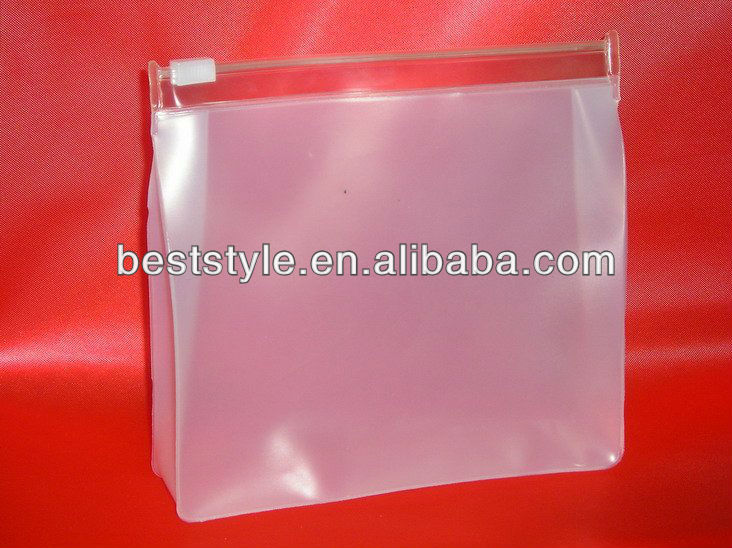 Frosted PVC ziplock bag from China