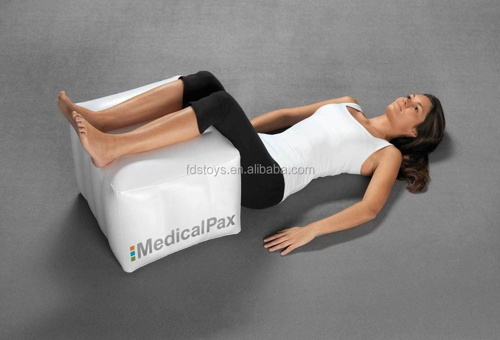 PVC inflatable triangle Yoga Pillow inflatable cushion