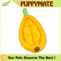 China Supplier Small MOQ Wholesale Pet Products Pet Toy Dog Bed/banana shape dog bed