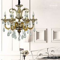 North Europe classic bronze pendant crystal chandeliers lighting for danmark ETL84131