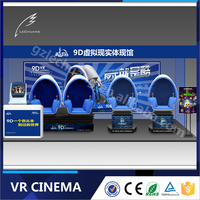 2016 Lechuang 360 Degree Theme Park 9d Cinema VR Game Machine for Family Amusement