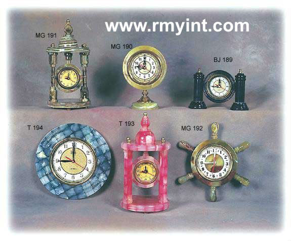 onyx handicrafts gift clocks