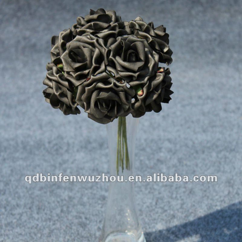 Black Foam Rose Wedding Flowers Arrangement ,Artificial Foam Flower