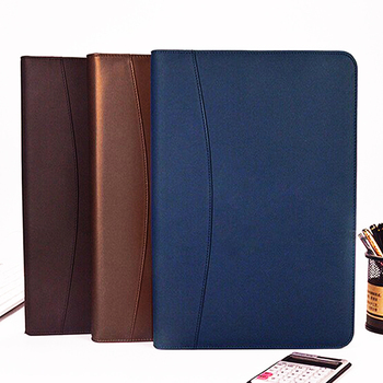 Discolored PU Leather Luxury Style Business Style Office Portfolio