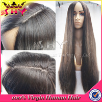 Middle part silk base full lace wig silk top glueless full lace wigs for black woman