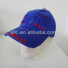 Custom Flat Embroidery Fitted Hats Cap With Earflaps/Fitted Brimless Baseball Cap