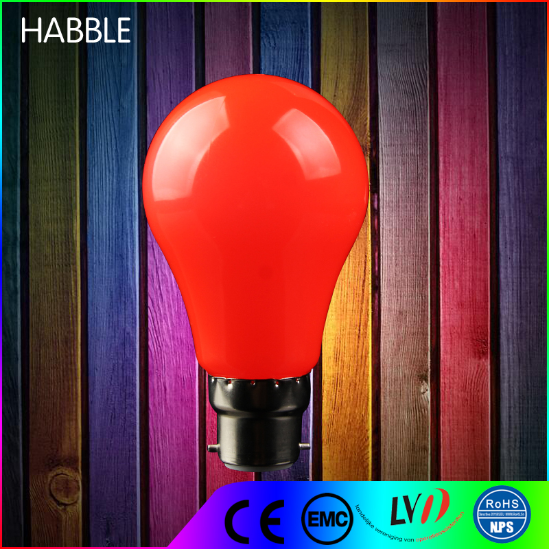 China manufacture 220v outdoor lighting colorful led bulb 2w